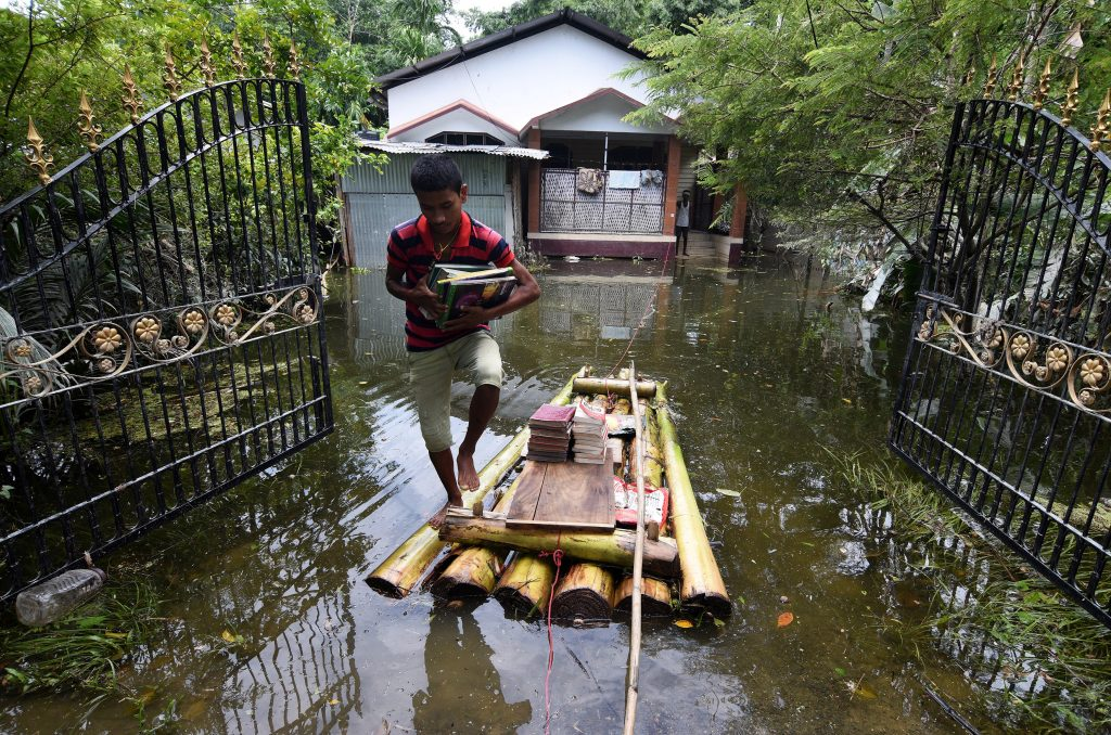 The United Nations estimates that 41 million people are affected by the flooding and landslides in South Asia. Photo by Anuwar Hazarika/Reuters