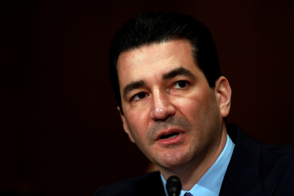 Dr. Scott Gottlieb testifies before a Senate Health Education Labor and Pension Committee confirmation hearing on his nomination to be commissioner of the Food and Drug Administration on Capitol Hill in Washington, D.C., U.S. April 5, 2017. Photo by Aaron P. Bernstein/REUTERS