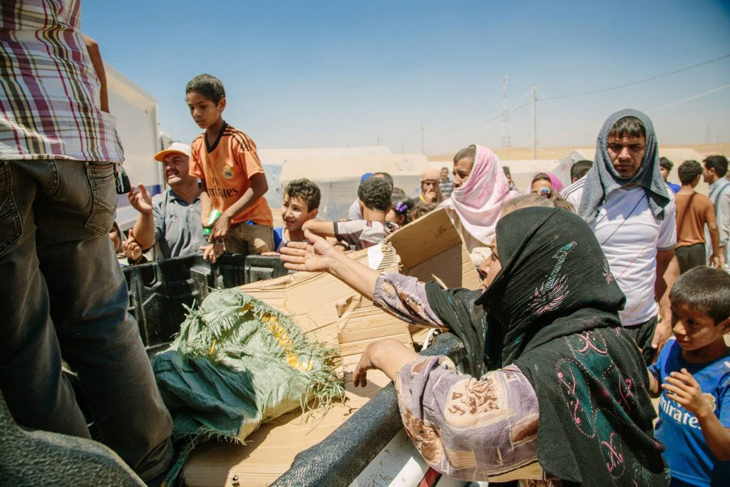 Photo of Iraq's Kalak refugee camp in June 2014 by Alessandro Pavone