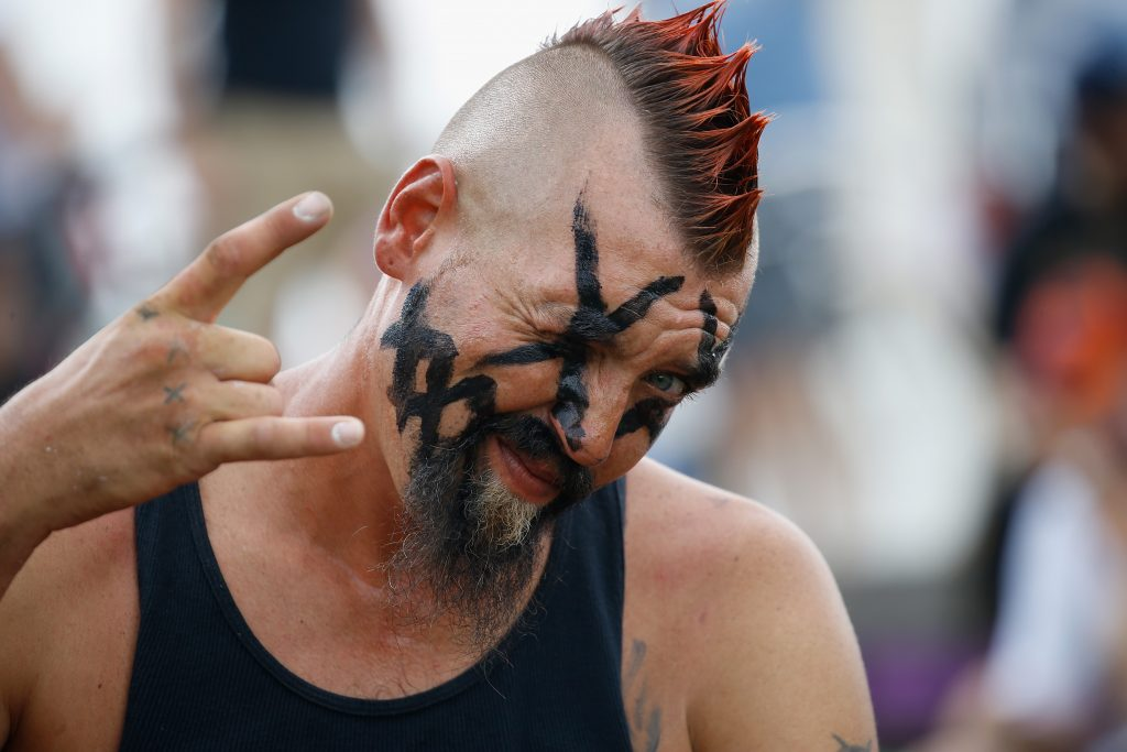 People gather at the Lincoln Memorial on the National Mall for the Juggalo March n Washington  on September 16, 2017 in Washington, DC.  (Photo by John Lamparski/WireImage)
