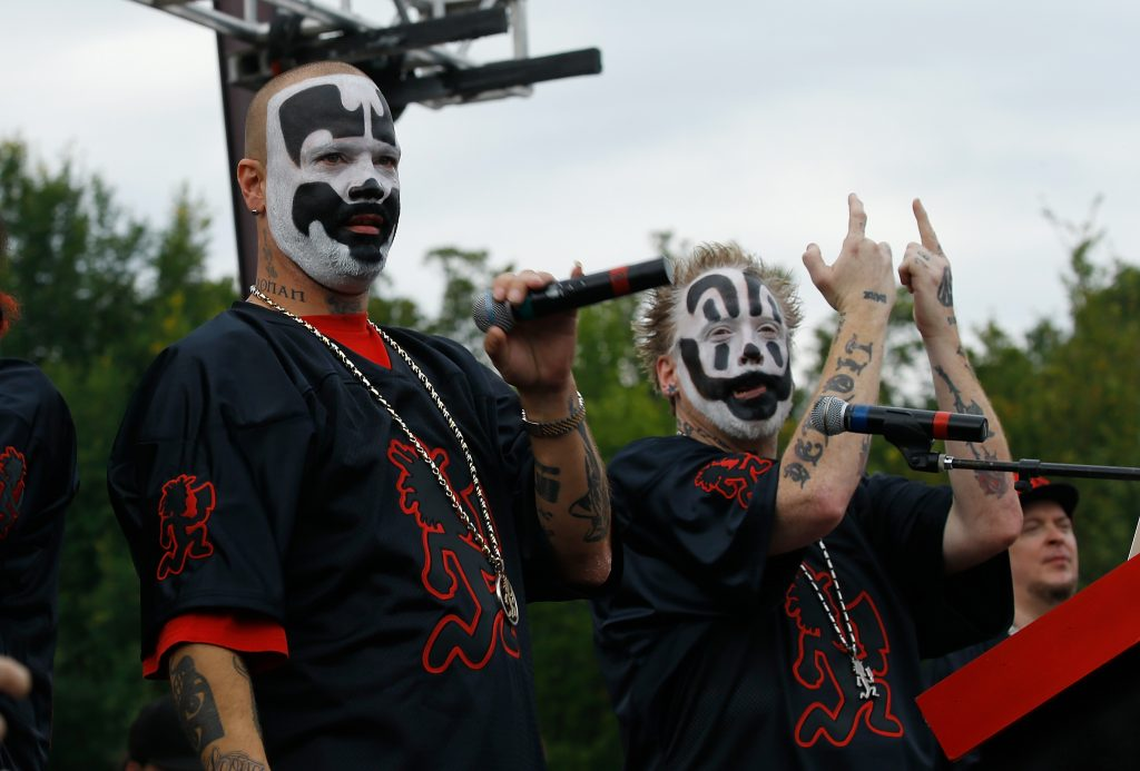 Shaggy 2 Dope and Violent J. of Insane Clown Posse attend Juggalo March On Washington    on September 16, 2017 in Washington, DC.  (Photo by John Lamparski/WireImage)