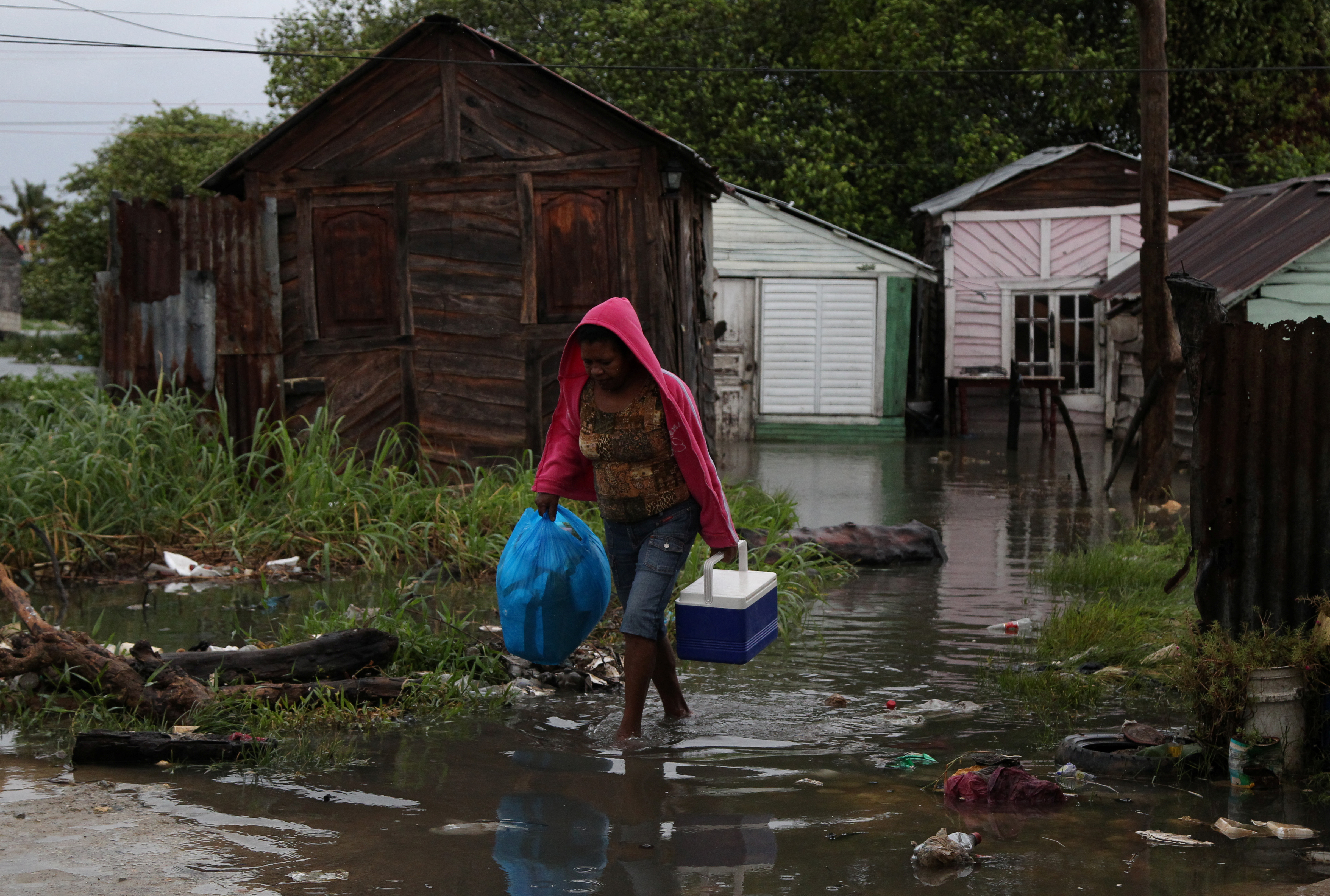 Hurricane Irma doused the northern coast of the Dominican Republic on its northwestern trek. Photo by Ricardo Rojas/Reuters