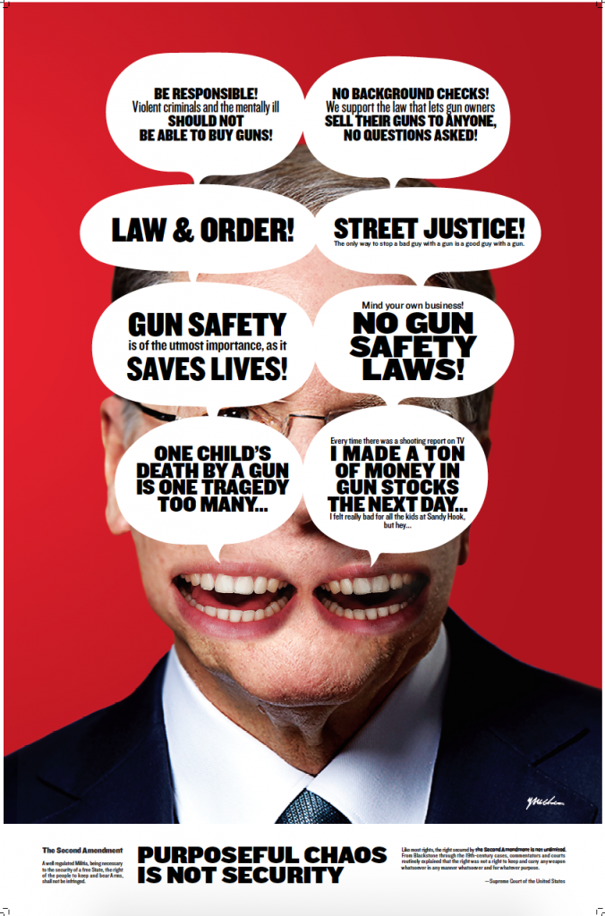 Poster for the second amendment. Credit: Yue Chen