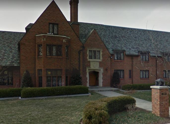 Beta Theta Pi's house at Penn State University. The fraternity was shut down after the death of a young recruit earlier this year. Screen grab from Google Maps.