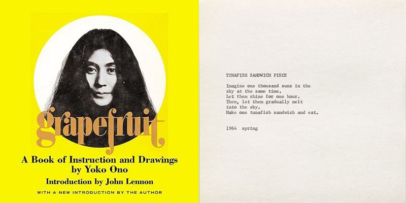 "Yoko Ono's ""Grapefruit,"" first published in 1964."