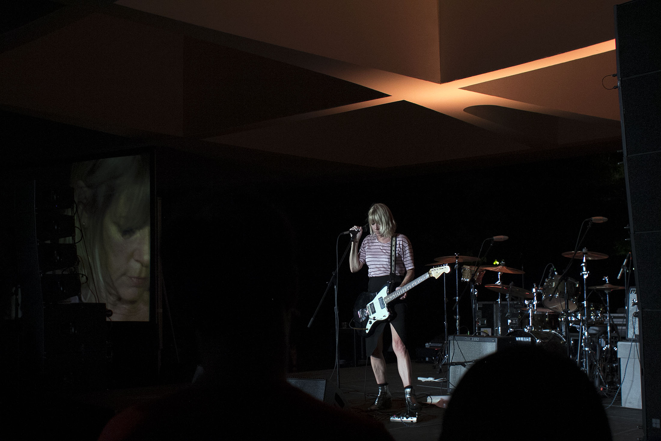 Musician Kim Gordon performs at a one-night tribute concert in honor of Yoko Ono at the Hirshhorn Museum in Washington, D.C. this past weekend. Photo by Joshua Barajas/PBS NewsHour