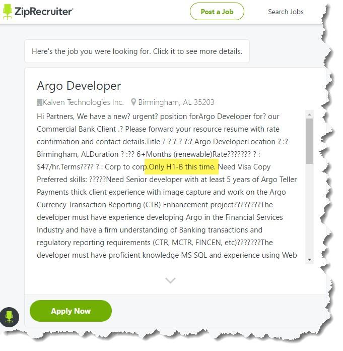 ZipRecruiter ad