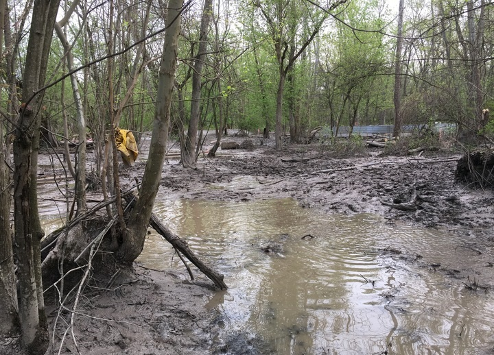 Earlier this year, federal regulators blocked Energy Transfer Partners from drilling until it addressed environmental concerns over the project. Photo: Ohio EPA.