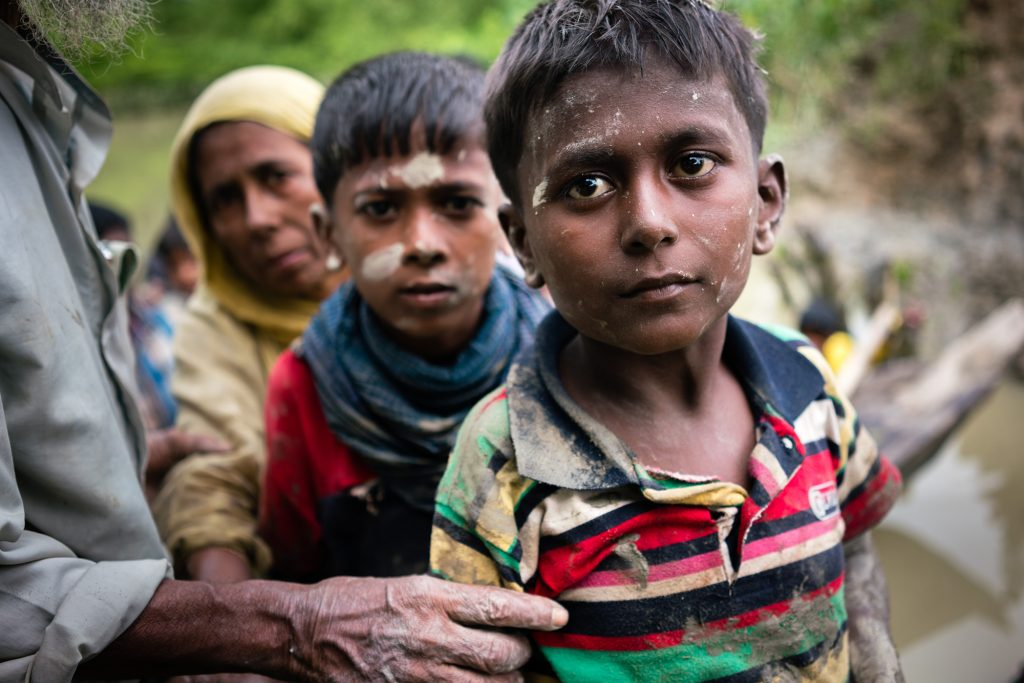 Photo of Rohingya refugee children by Phil Caller