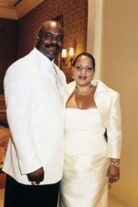 Dave Duerson and his ex-wife, Alicia