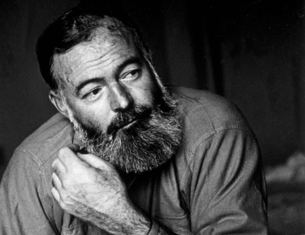 A 1944 photo of American writer and war correspondent Ernest Hemingway (1899 - 1961). Photo by Kurt Hutton/Picture Post/Getty Images