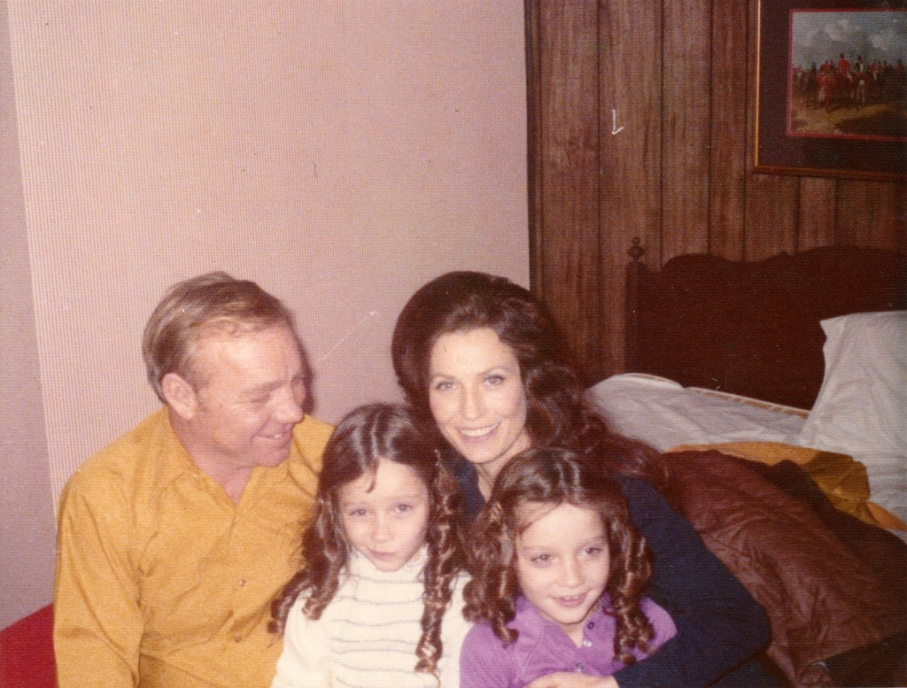 "Loretta Lynn and her husband Oliver ""Doolittle"" Lynn with their twins, Patsy & Peggy. Photo provided by Loretta Lynn Enterprises Inc."