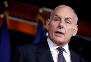 Secretary of Homeland Security John Kelly speaks about immigration reform at a press conference on Capitol Hill in Washington