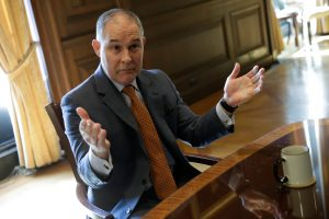 Environmental Protection Agency Administrator Scott Pruitt speaks during an interview for Reuters at his office in Washington, U.S., July 10, 2017. Photo by Yuri Gripas/REUTERS