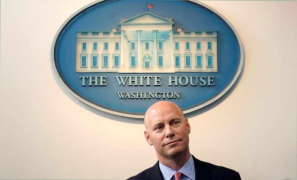 The comments Tuesday by White House legislative director Marc Short came as Republican Sen. Rand Paul of Kentucky ramped up pressure on his colleagues to reassert their power to decide whether to send American troops into harm's way. Photo by REUTERS/Joshua Roberts.