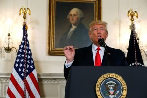 U.S. President Donald Trump delivers a statement on the deadly protests in Charlottesville, at the White House in Washington, U.S. August 14, 2017. REUTERS/Jonathan Ernst - RTS1BS7L
