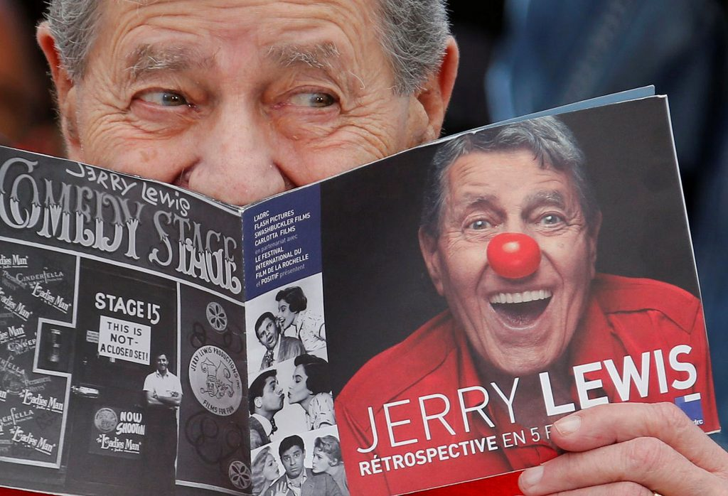 """FILE PHOTO: Cast member Jerry Lewis poses during a photocall for the film """"Max Rose"""" at the 66th Cannes Film Festival"""