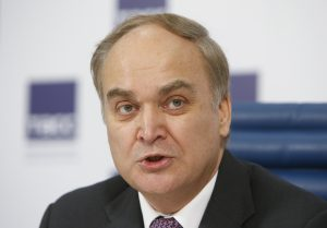 Russian Deputy Defence Minister Anatoly Antonov attends a 2015 news conference in Moscow, Russia. Photo by Sergei Karpukhin/Reuters