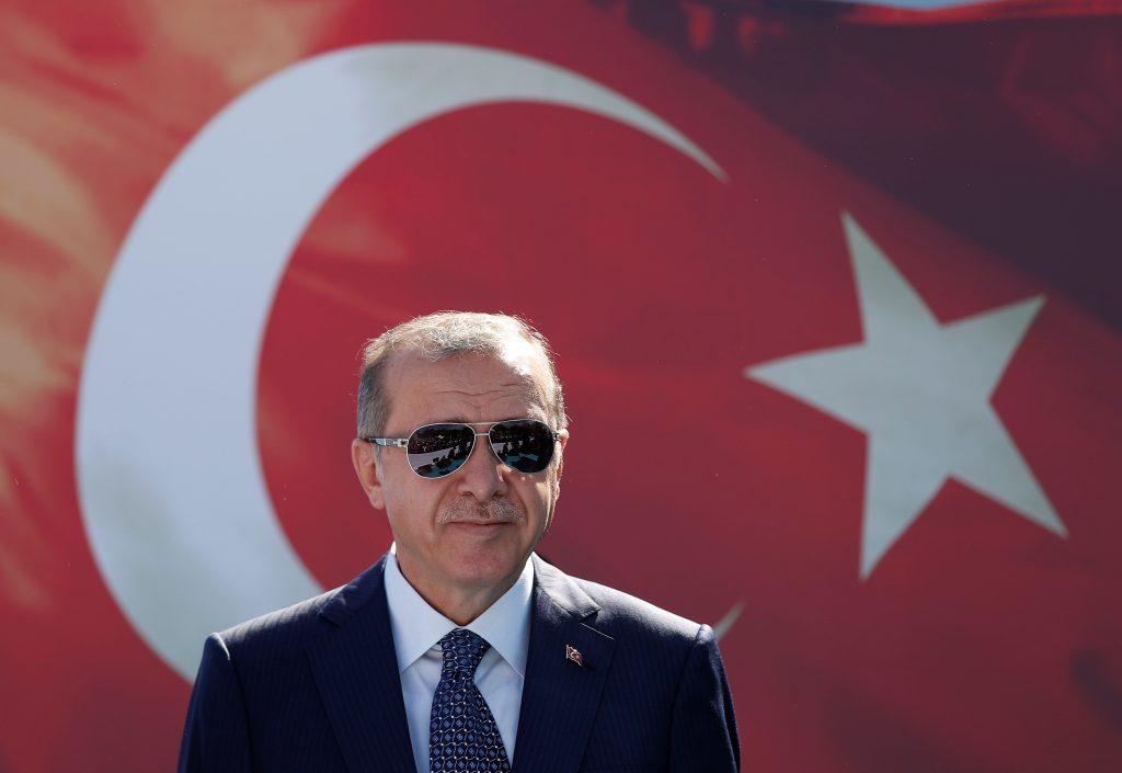 Turkish President Tayyip Erdogan attends a ceremony in Istanbul, Turkey, August 25, 2017. REUTERS/Murad Sezer