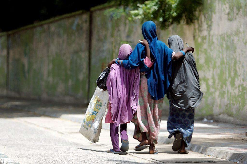 Girls walk on a street in Maiduguri, Borno, Nigeria August 30, 2016. REUTERS/Afolabi Sotunde