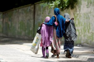 Girls walk on a street in Maiduguri, Borno, Nigeria August 30, 2016. REUTERS/Afolabi Sotunde