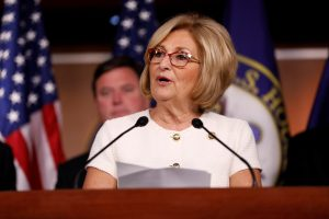 Rep. Diane Black (R-TN) announces the 2018 budget blueprint during a press conference on Capitol Hill in Washington