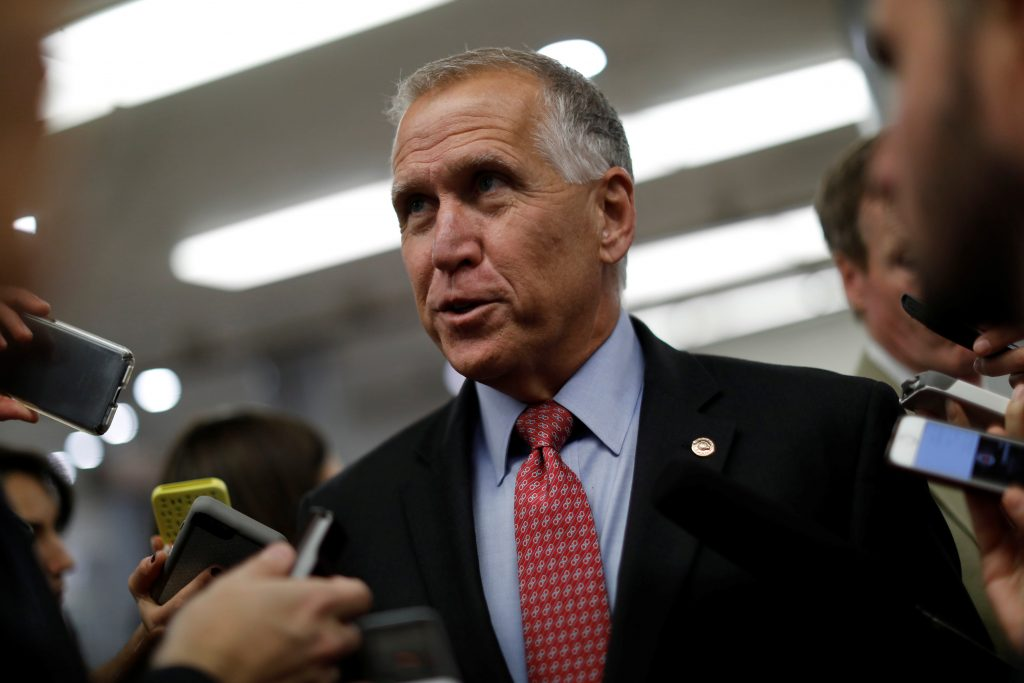 File photo of Sen. Thom Tillis, R-N.C., by Aaron P. Bernstein/Reuters