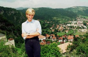 Princess Diana's causes included caring for victims of landmines, which brought her to the town of Olovo in Bosnia and Herzegovina on Aug. 8, 1997. Photo by Reuters stringer