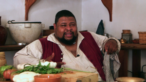 Michael Twitty in colonial Williamsburg, VA, where he is currently a historian-in-residence.