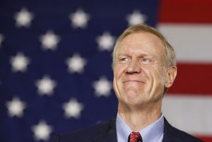 Republican Bruce Rauner smiles after winning the midterm elections in Chicago, Illinois, November 4, 2014. REUTERS/Jim Young (UNITED STATES - Tags: POLITICS ELECTIONS) - RTR4CVD6