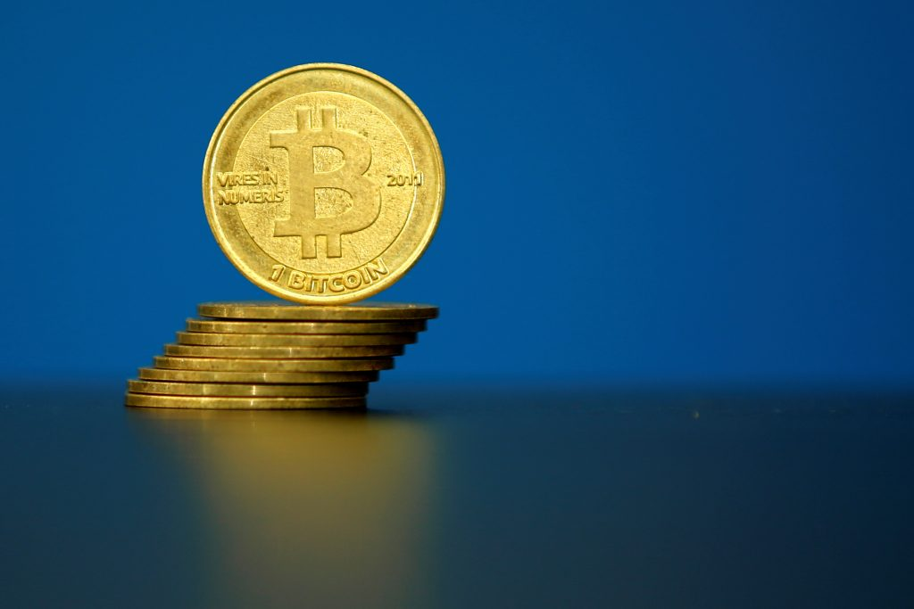 FILE PHOTO Bitcoin Virtual Currency Coins Are Seen In An Illustration Picture Taken