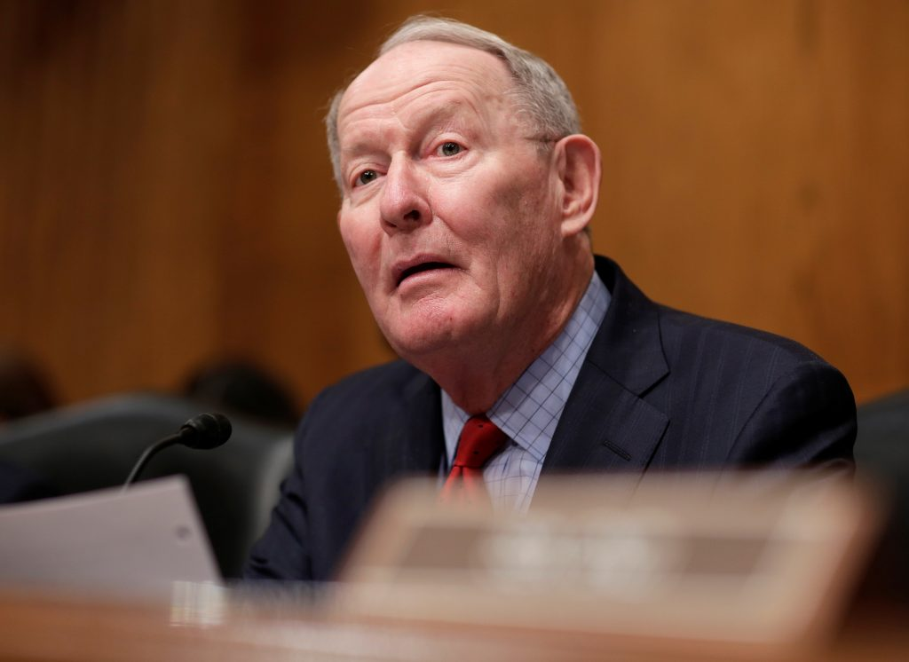 Chairman of the Senate Health, Education, Labor and Pensions Committee Lamar Alexander speaks during Rep. Tom Price's nomination hearing to be Health and Human Services secretary in Washington.
