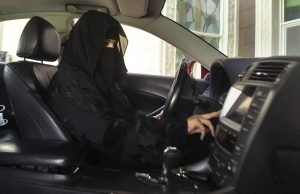 A woman drives a car in Saudi Arabia in 2013. Photo by Faisal Al Nasser/Reuters