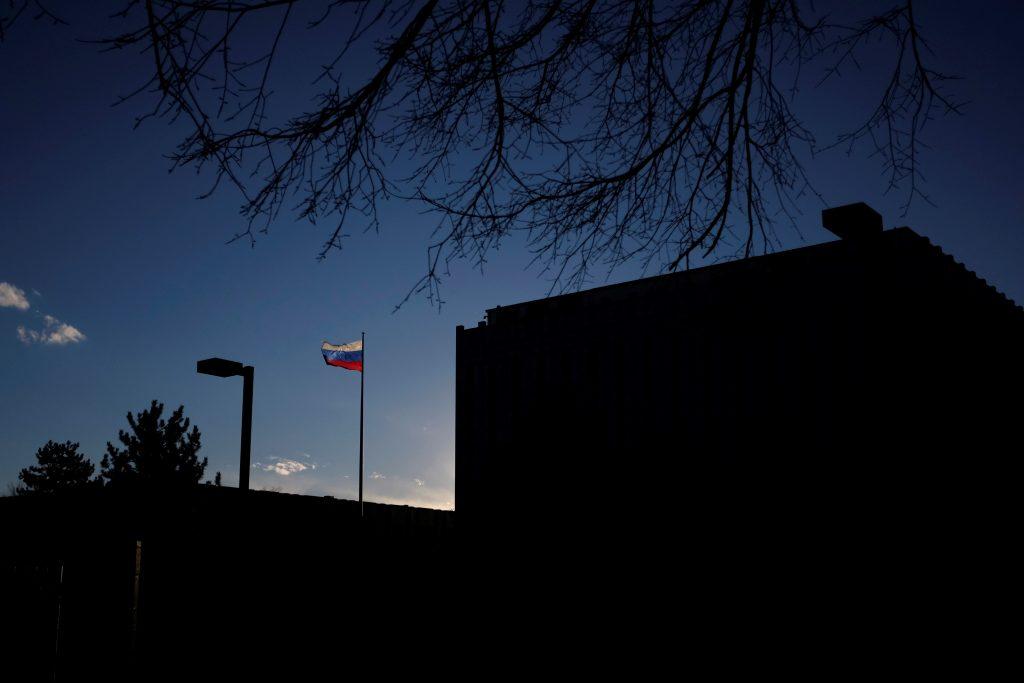 The Russian embassy on Wisconsin Avenue in Washington