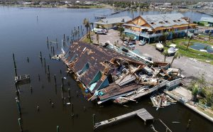 An aerial photo shows damage caused by Hurricane Harvey in Rockport, Texas, U.S., August 31, 2017. Photo taken August 31, 2017. REUTERS/DroneBase - RC1F5C390930