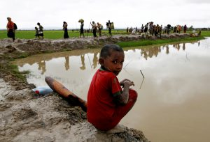 A steady stream of Rohingya refugees cross into Bangladesh. The United Nations estimates 123,000 have entered since August. Photo by Mohammad Ponir Hossain/Reuters