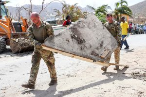 British Army Commandos take part in recovery efforts after Hurricane Irma passed Tortola in the British Virgin Islands. Photo by Joel Rouse/British Ministry of Defense via Reuters