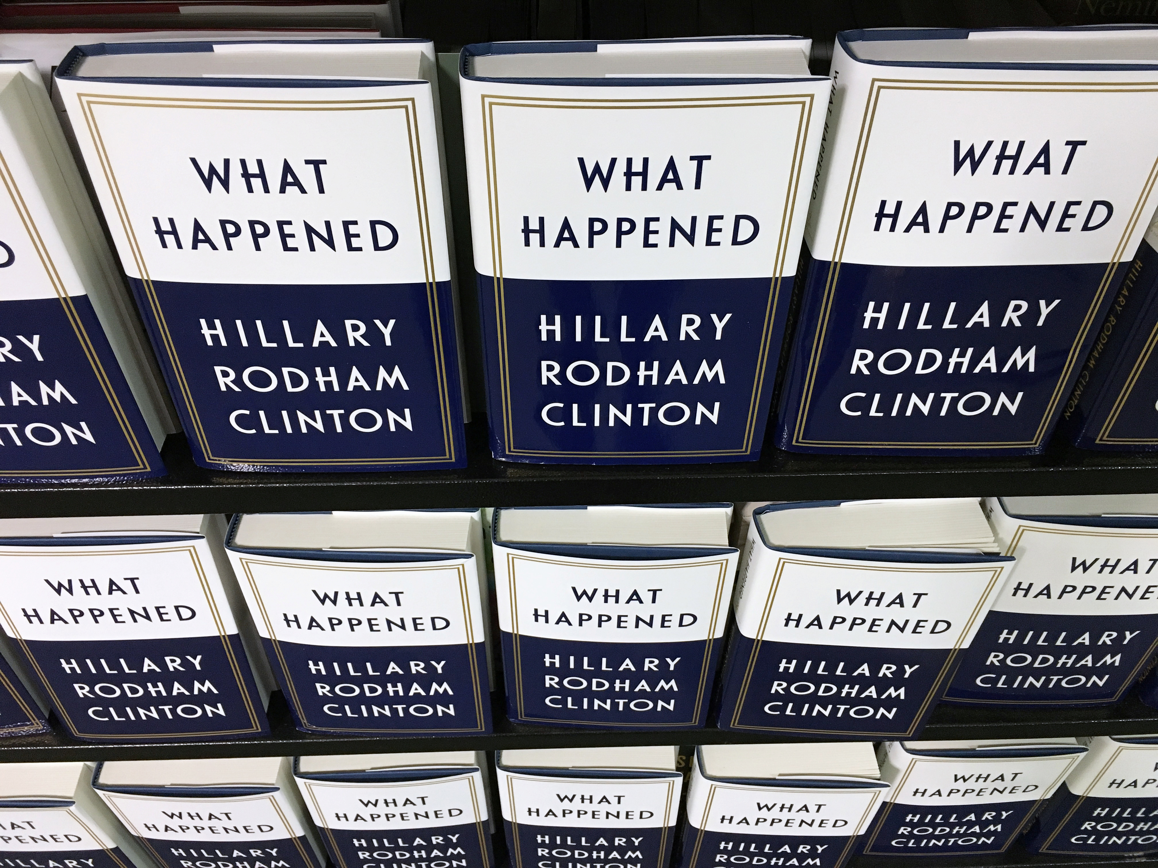 Reviews of Clinton's memoir were deleted for violating