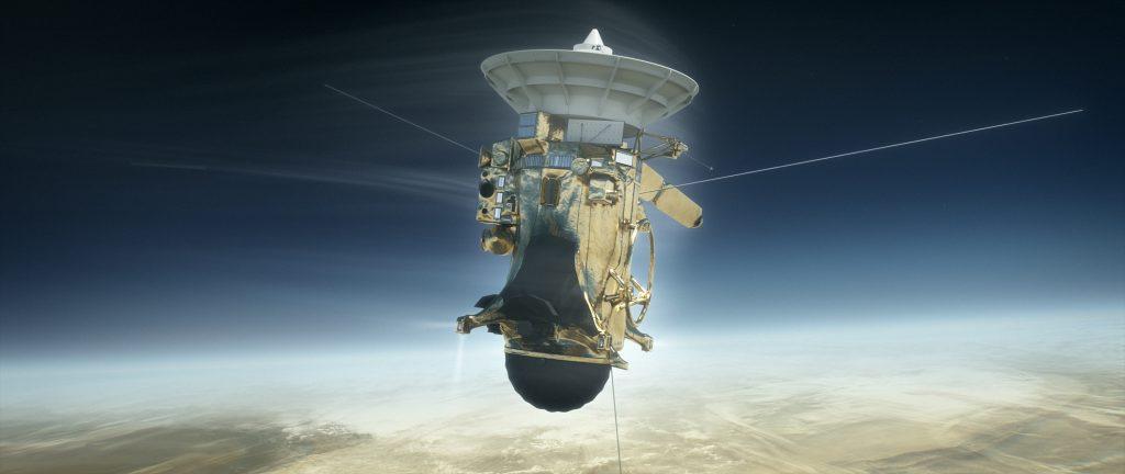 NASA's Cassini probe. Illustration by NASA/Jet Propulsion Laboratory-Caltech