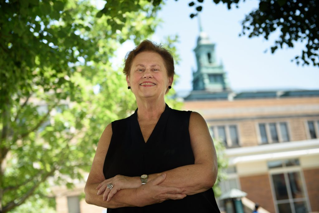 A former bank executive, Helen Drinan, took over as president of Simmons College to discover the university couldn't make payroll. She has since used revenue from graduate programs to help restore financial health, an increasingly common strategy in higher education. Photo: Kate Flock for The Hechinger Report