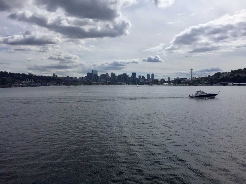 The skyline of Seattle as seen from Gas Works Park on Lake Union. Photo by Lorna Baldwin