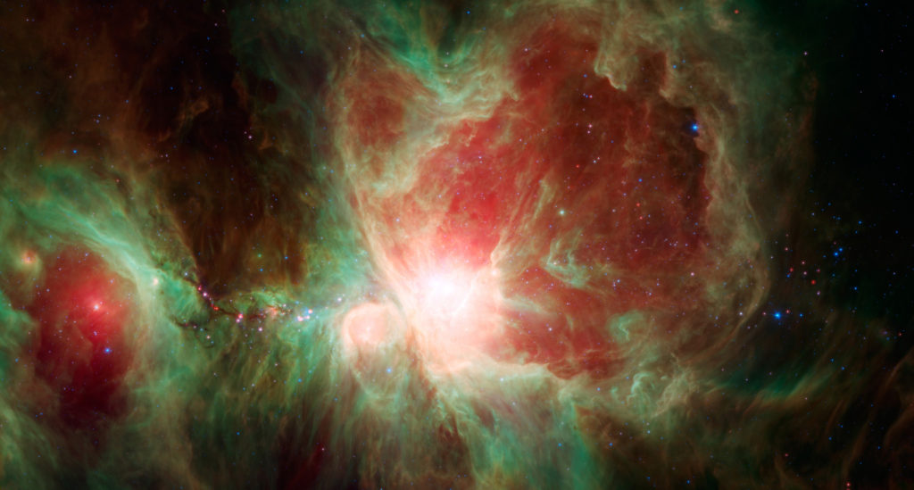 Images in infrared provide astronomers with new information that would normally not be seen with the naked eye. Photo by Reuters