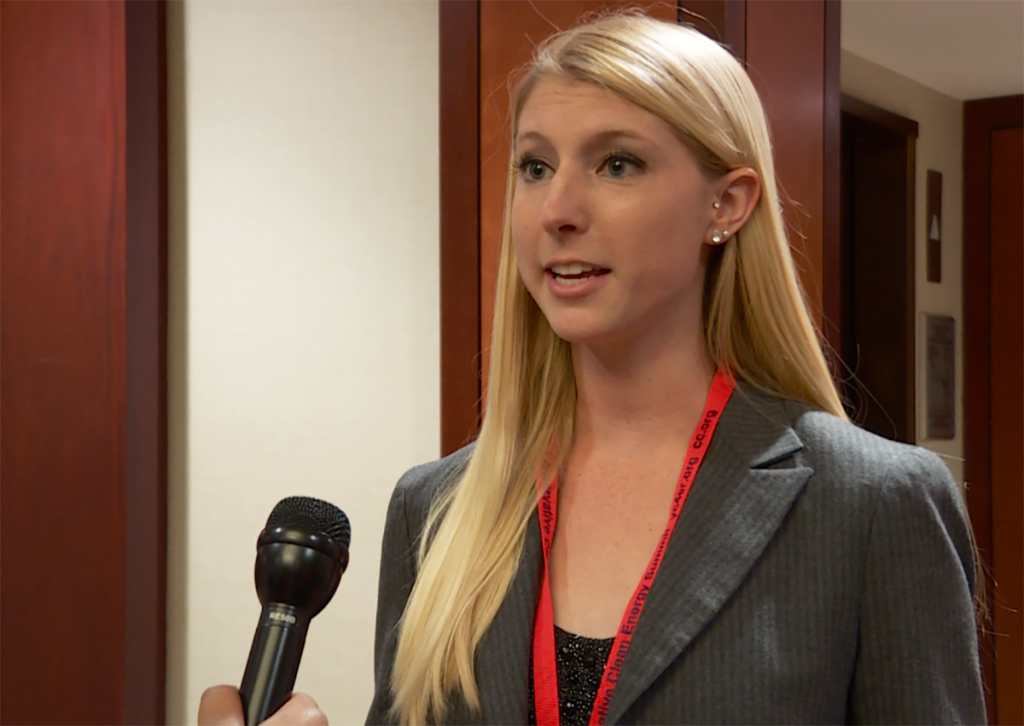 Mariah Bastin, a member of the Washington D.C. Young Republicans, has seen a great job influx within the wind energy industry in action. Photo by PBS NewsHour