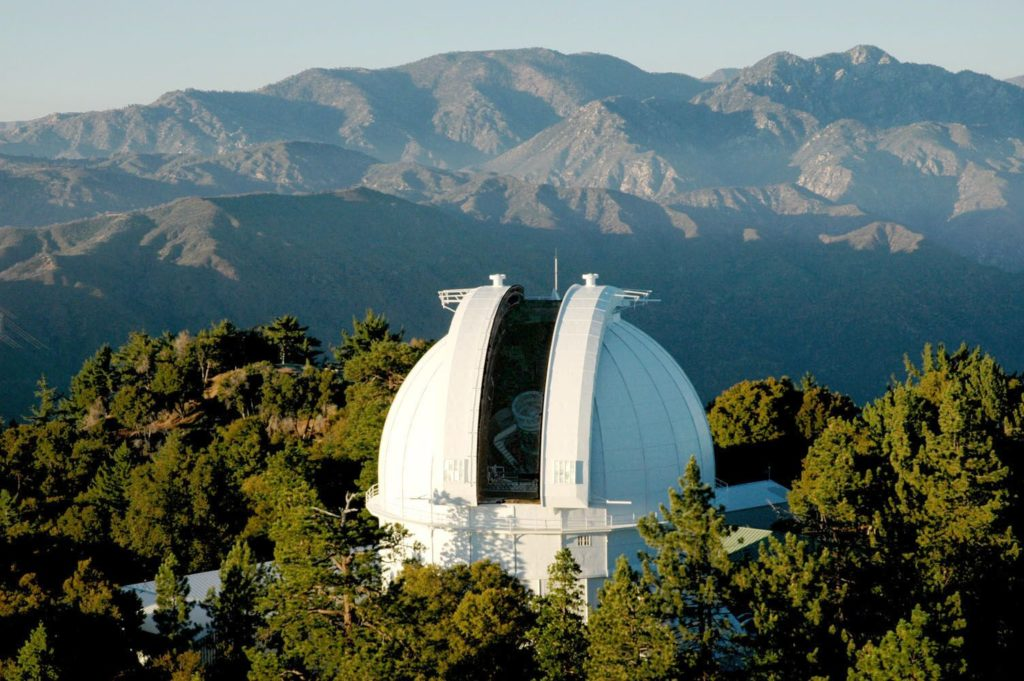The 100-inch telescope celebrates its 100th birthday on November 1. Photo by the Huntington Library in San Marino, California