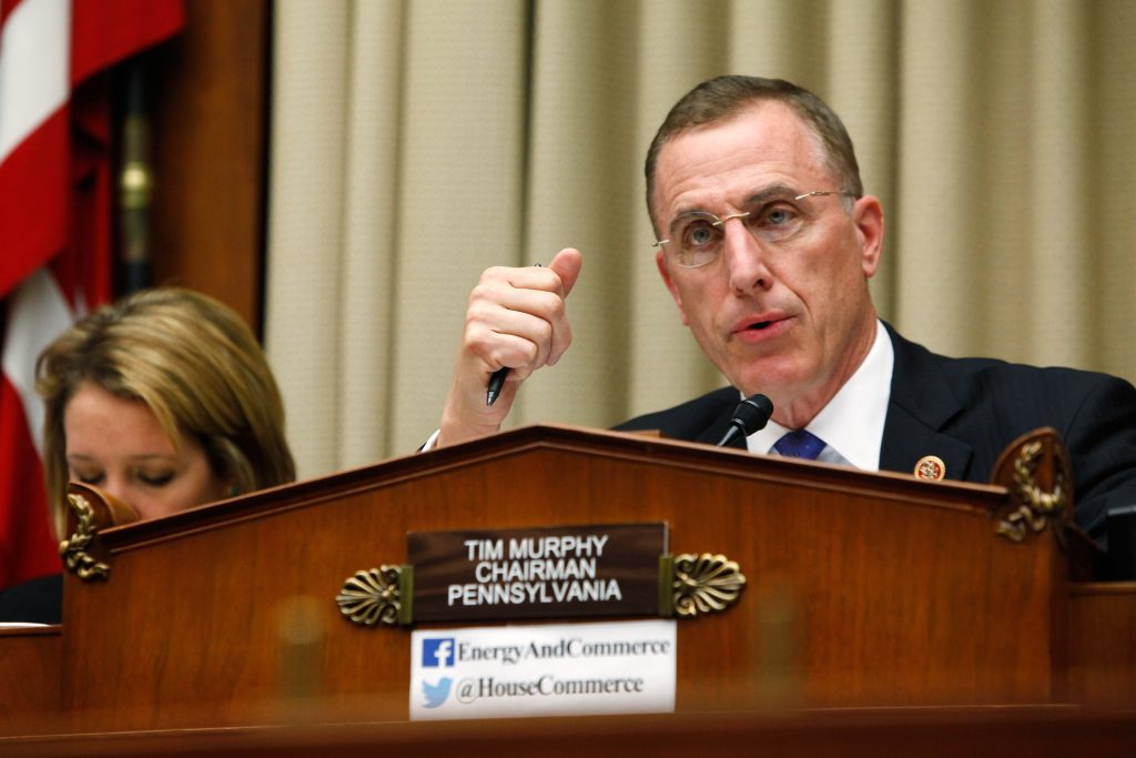 Rep. Tim Murphy (R-PA) chairs a 2014 House Energy and Commerce Oversight and Investigations Subcommittee hearing on the U.S. response to the Ebola crisis. Photo by Jonathan Ernst/Reuters