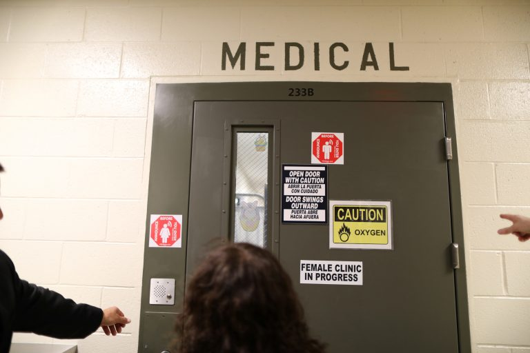 The women's medical room is seen at the Adelanto immigration detention center, which is run by the Geo Group Inc. (GEO.N), in Adelanto, California, on April 13, 2017. Photo by Lucy Nicholson/Reuters