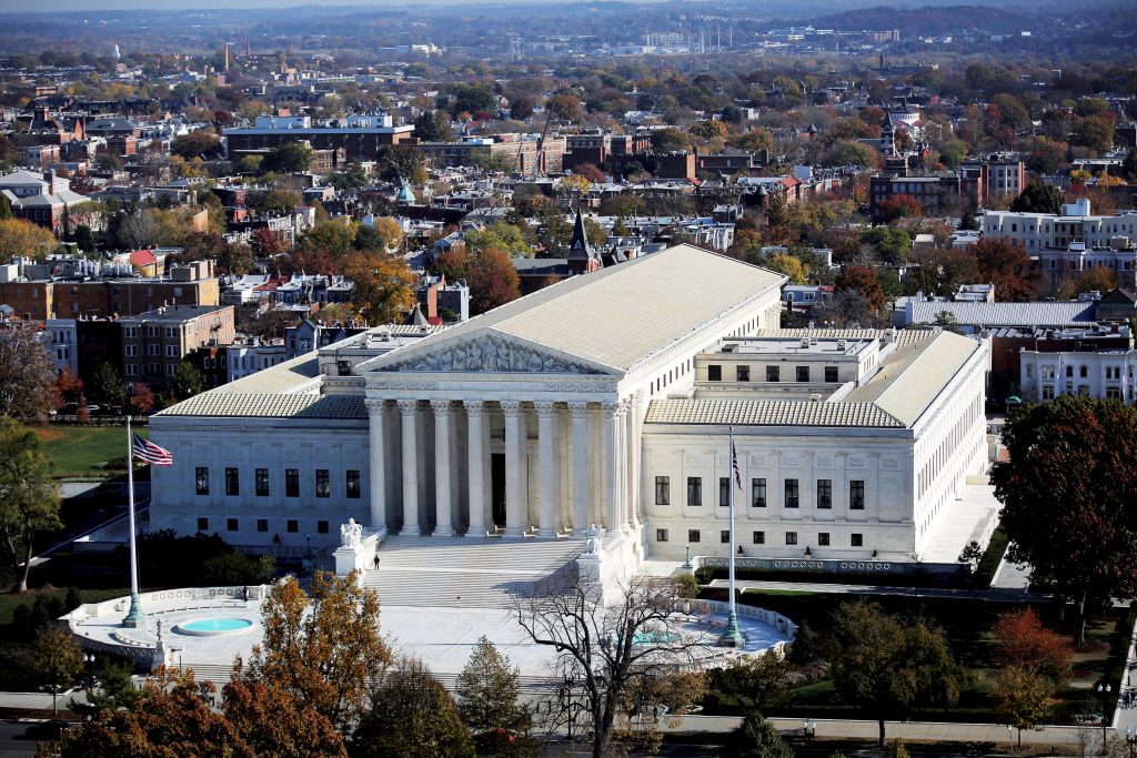 FILE PHOTO - A general view of the U.S. Supreme Court building in Washington