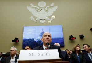 Richard Smith, former chairman and CEO of Equifax Inc., testifies before the House Energy and Commerce hearing in Washington, D.C. Photo by Kevin Lamarque/Reuters