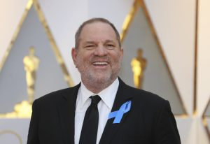 Harvey Weinstein appears at the 89th Academy Awards in Hollywood, California, on Feb. 26. File photo by Mike Blake/Reuters