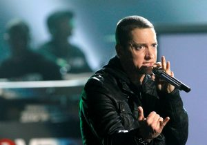FILE PHOTO: Rapper Eminem performs 'Not Afraid' at the 2010 BET Awards in Los Angeles
